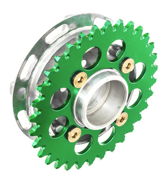 The hob and sprocket of motorcycle